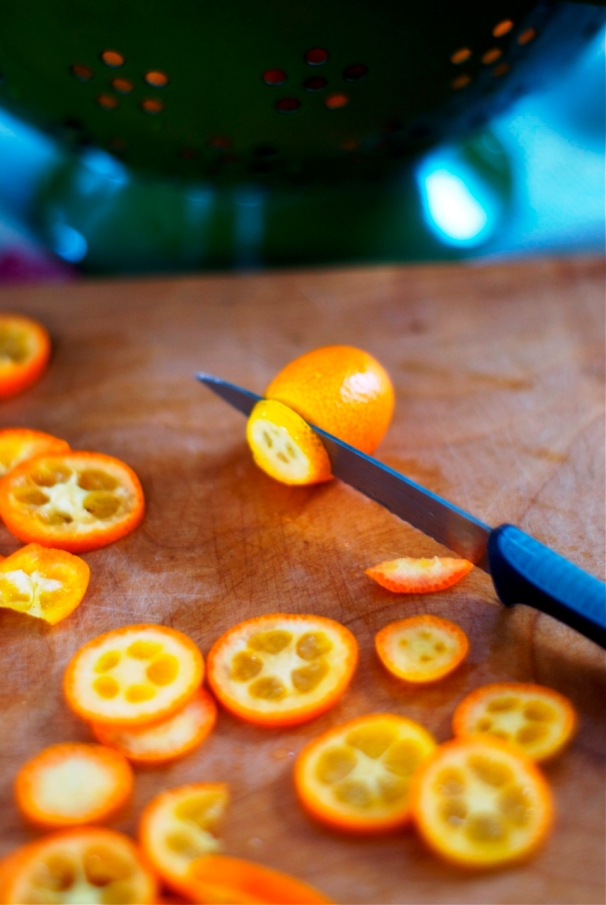 kumquat marmalade + pistachio linzertorte